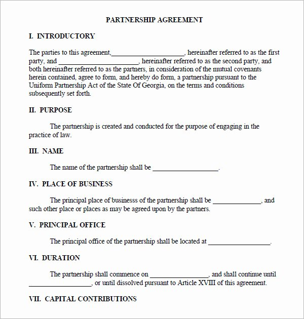 Partnership Agreement Template Word Beautiful 11 Sample Business Partnership Agreement Templates to