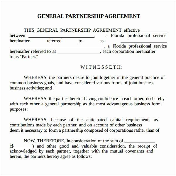 Partnership Agreement Template Word Fresh Partnership Agreement 9 Free Pdf Doc Download