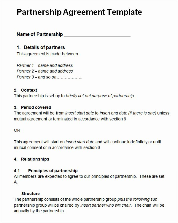 Partnership Buyout Agreement Template Beautiful 16 Partnership Agreement Templates