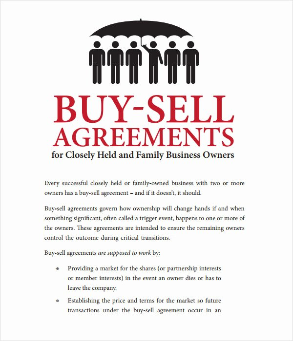 Partnership Buyout Agreement Template Elegant 17 Sample Buy Sell Agreement Templates