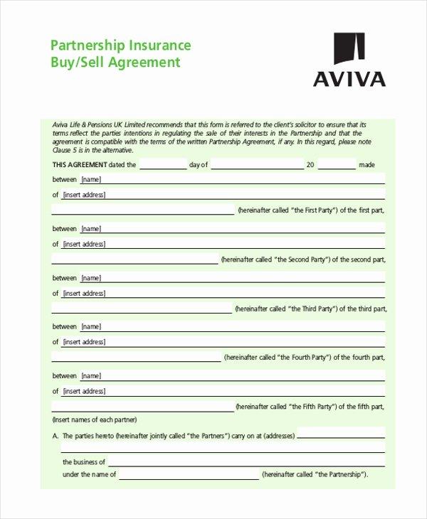Partnership Buyout Agreement Template Elegant 9 Sample Partnership Agreement forms Free Sample