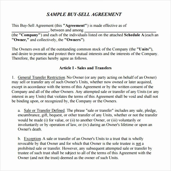 Partnership Buyout Agreement Template New Printable Holder Buyout Agreement Template – Free