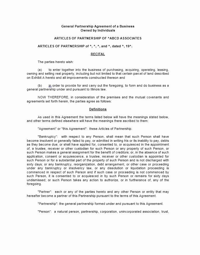 Partnership Buyout Agreement Template Unique 40 Free Partnership Agreement Templates Business