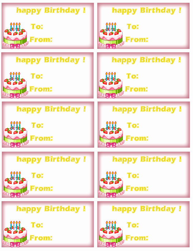 Party Favor Tag Template Luxury 7 Best Of Printable Tags Birthday Cake Birthday