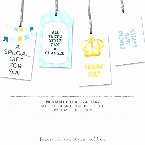 Party Favor Tag Template Luxury Birthday Party Name Tag Template Tags Free Printable
