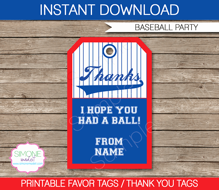 Party Favor Tag Template New Baseball Party Favor Tags Template