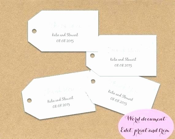 Party Favor Tags Template Awesome Printable Wedding Favor Tags Template Thank You Gift Free