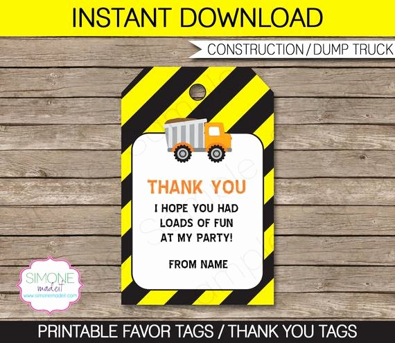 construction party favor tag tag instant
