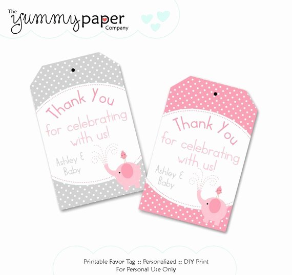 Party Favor Tags Template Inspirational Unavailable Listing On Etsy