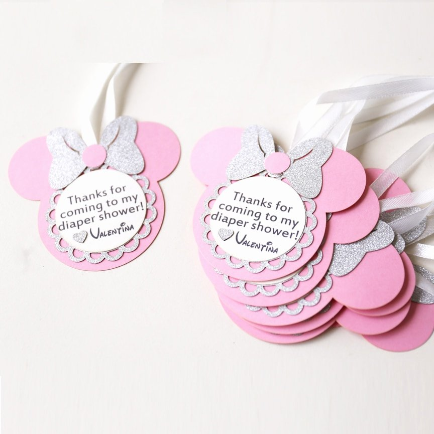 Party Favor Tags Template New Personalized Birthday Favour Tags Custom Minnie Party