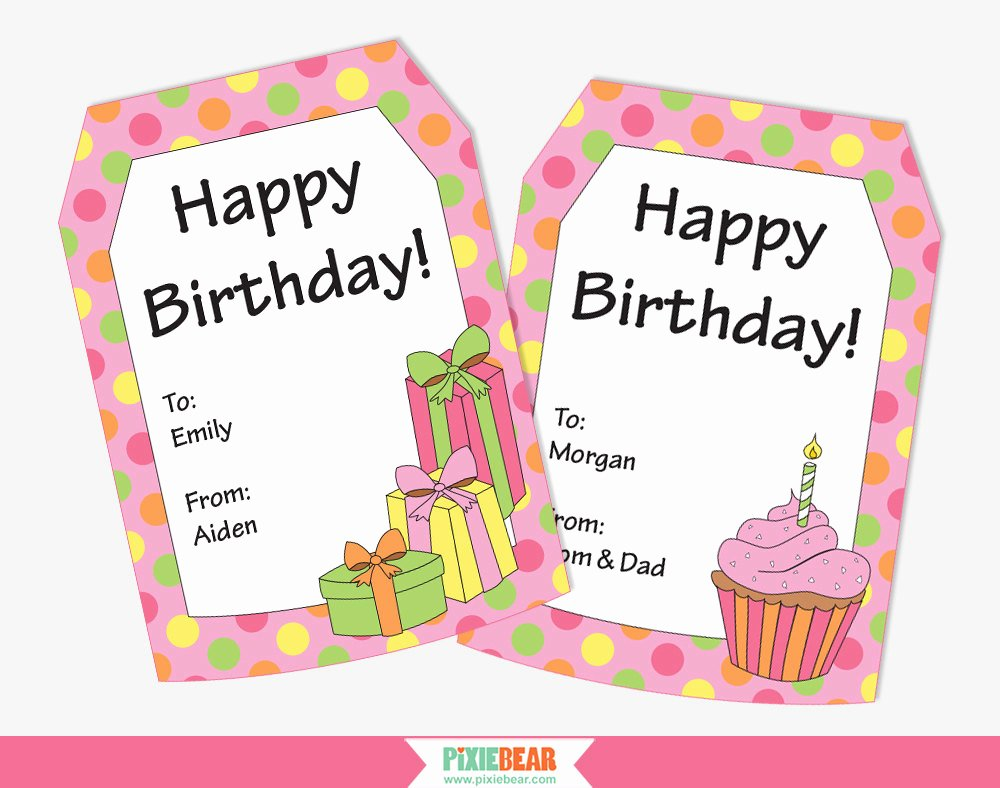 Party Favor Tags Template Unique Birthday Gift Tag Template – Happy Holidays
