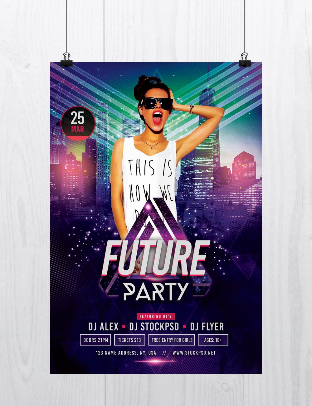 Party Flyer Template Free Awesome Future Party Free Shop Flyer Template Free Psd
