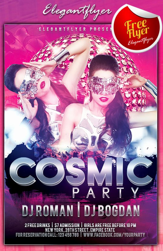 Party Flyer Template Free Beautiful 30 Free Psd themed Party Flyer Templates