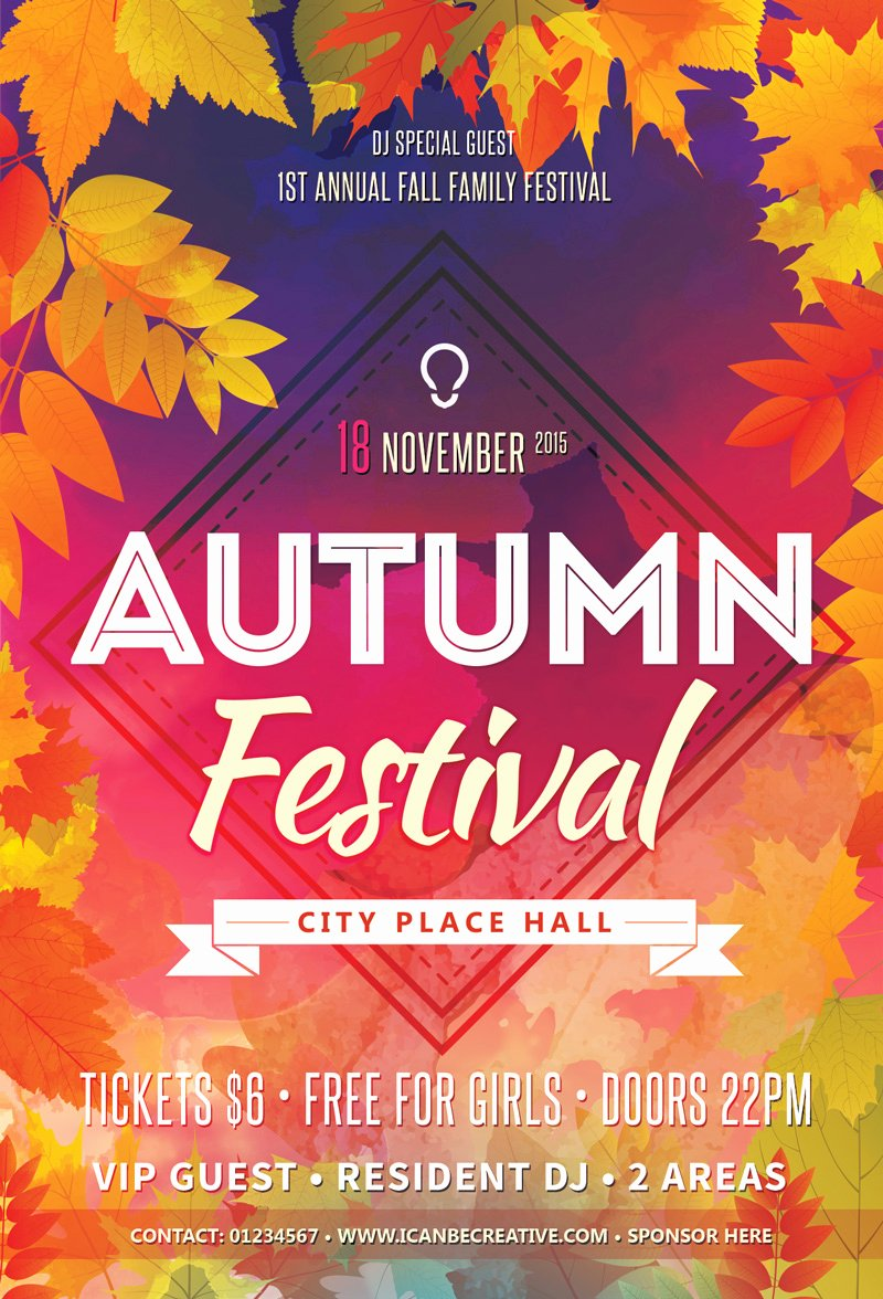 Party Flyer Template Free Best Of Free Psd Flyer Templates for Autumn Delebration Party