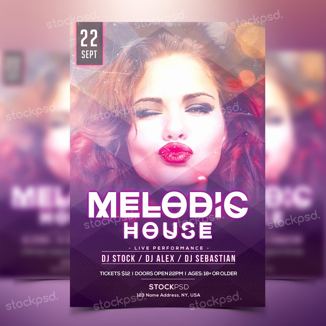 Party Flyer Template Free Elegant Melodic House Free Party Psd Flyer Template Stockpsd