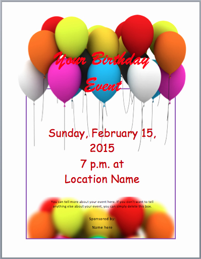 Party Flyer Template Free Fresh Birthday Party Invitation Flyer Template Free Word
