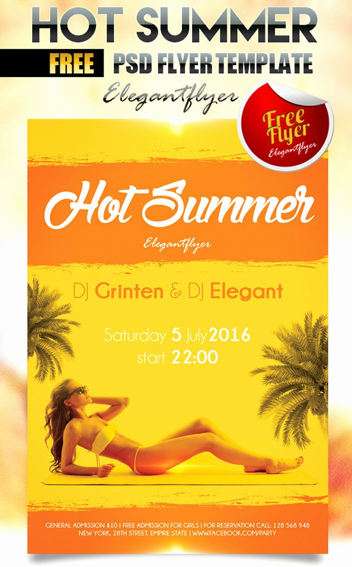 Party Flyer Template Free Inspirational 25 Free Summer Party Flyer and Poster Psd Templates