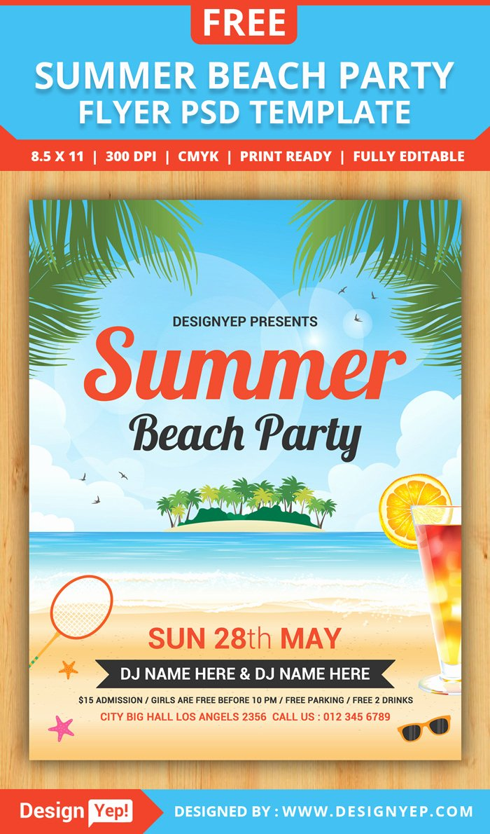 Party Flyer Template Free Inspirational 55 Free Party & event Flyer Psd Templates Designyep