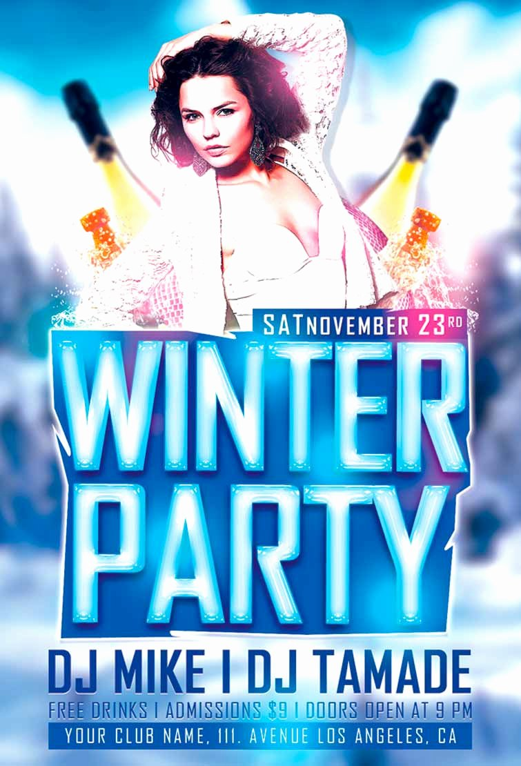 Party Flyer Template Free Inspirational Download Winter Party Flyer Template Vol 1
