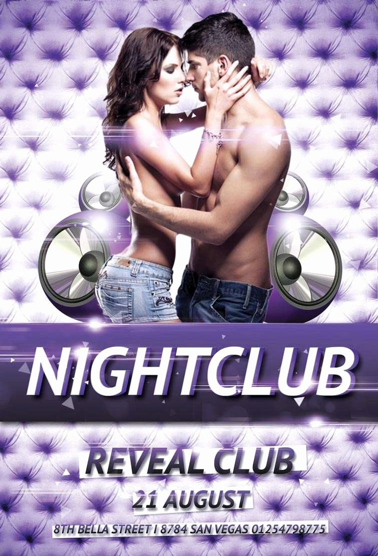 Party Flyer Template Free Lovely Free Nightclub Party Psd Flyer Template Download