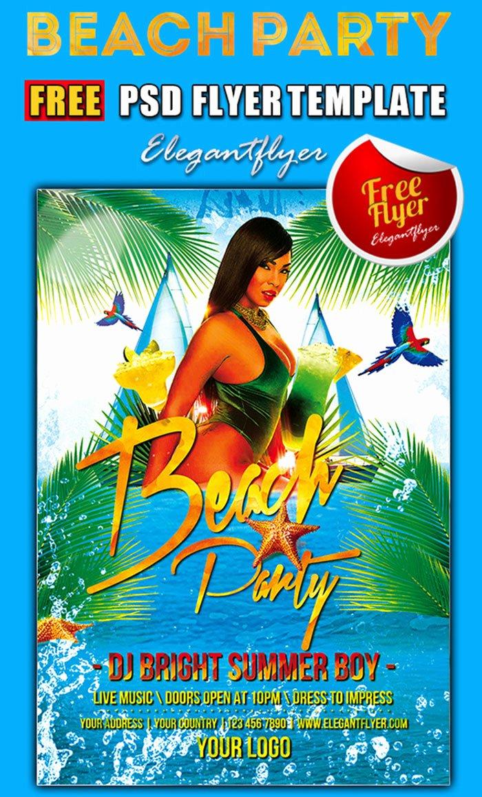 Party Flyer Template Free Luxury 15 Free Beach Party Flyer Psd Templates Designyep
