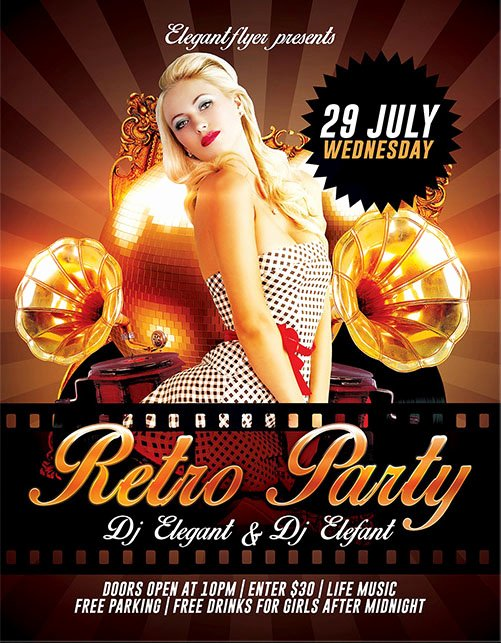 Party Flyer Template Free Luxury 30 Free Psd themed Party Flyer Templates