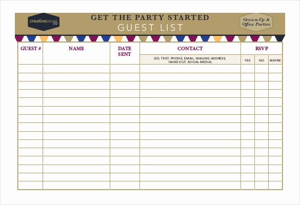 Party Guest List Template Fresh 23 Birthday List Templates Free Sample Example format
