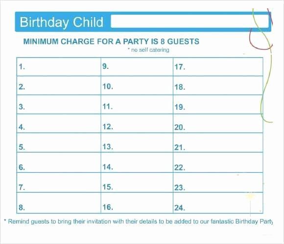 Party Guest List Template New 10 Party Guest List Templates Word Excel Pdf formats