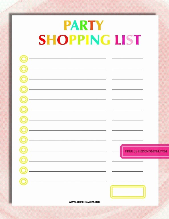 Party Plan Checklist Template New Free Printable Party Planning Template