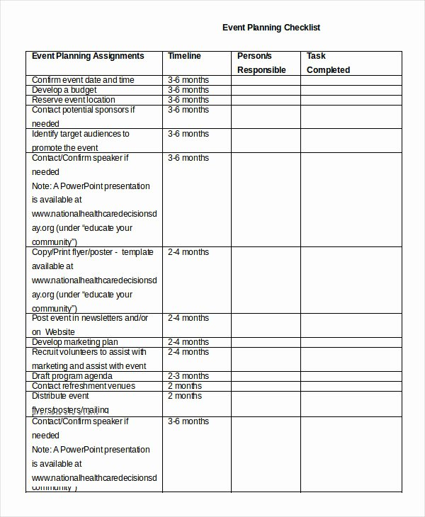 Party Planning Checklist Template Fresh event Planning Checklist 11 Free Word Pdf Documents