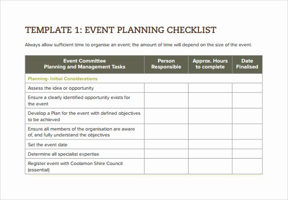 Party Planning Checklist Template Lovely 7 event Checklist Templates