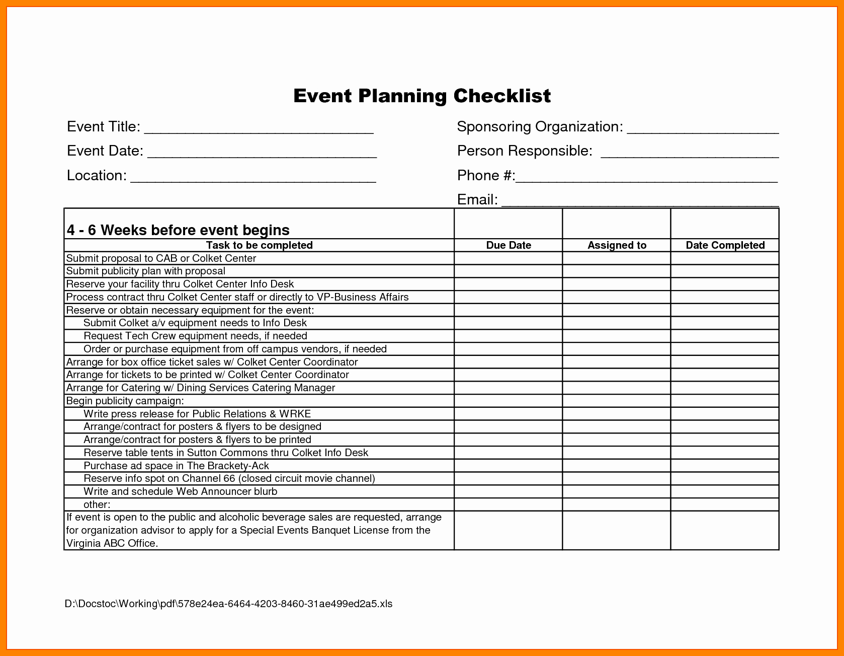 Party Planning Checklist Template Lovely event Planning Proposal Sample Portablegasgrillweber