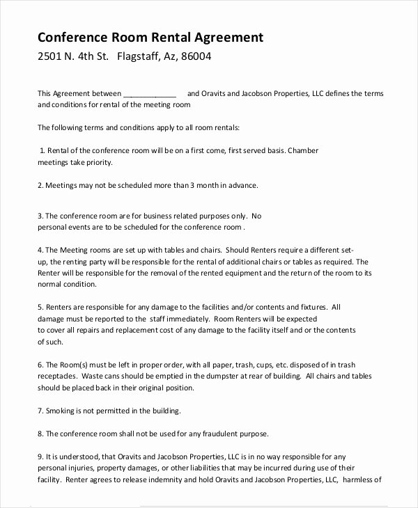 Party Rental Contract Template Inspirational Room Rental Agreement 17 Free Word Pdf Documents