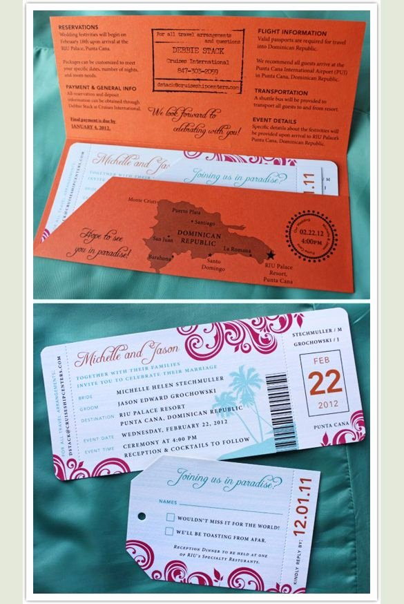 Passport Invitation Template Free Awesome Boarding Pass Invitation Template 29 Free Psd format