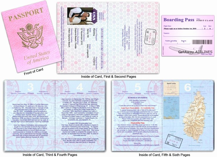 Passport Invitation Template Free Awesome Passport 10 Destination Wedding Standard Cover Custom