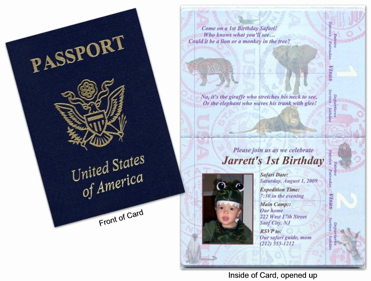 Passport Invitation Template Free Best Of Passport Party Invitations