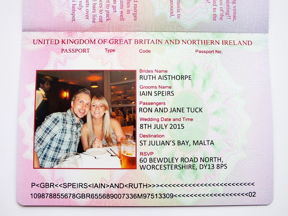 Passport Invitation Template Free Inspirational Uk Passport Wedding Invitations