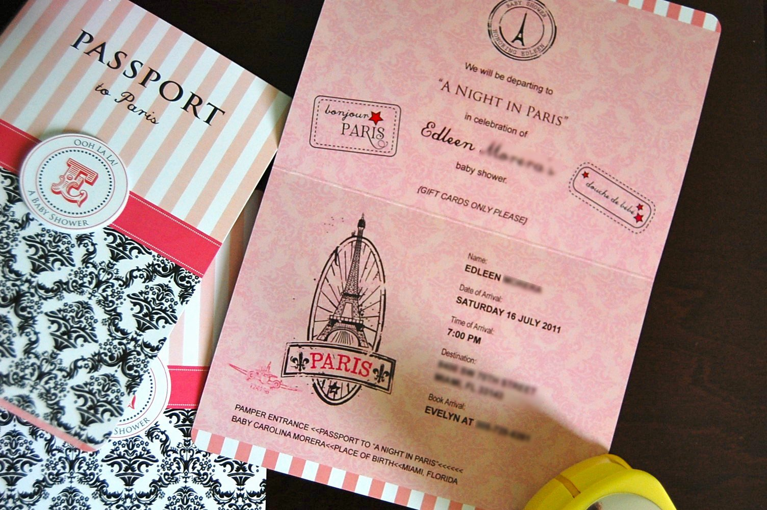 Passport Invitation Template Free Lovely Passport Invitation Ideas