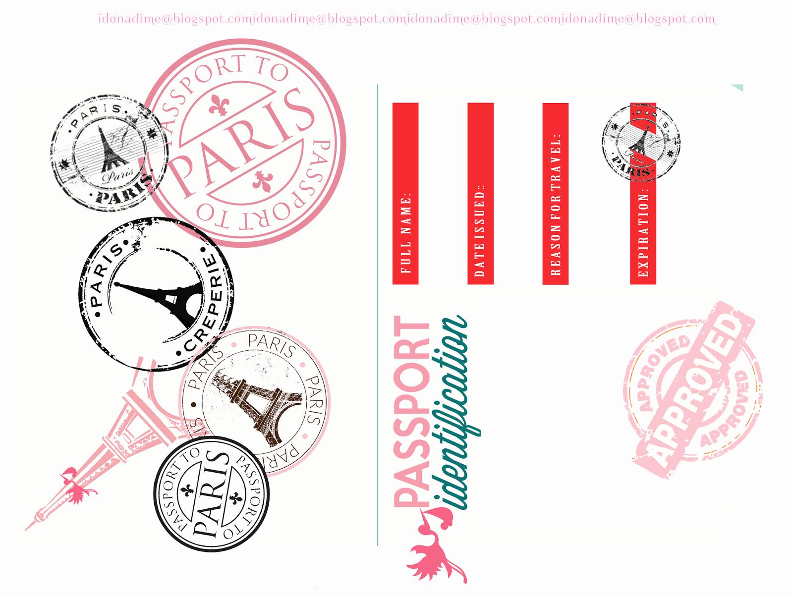 Passport Invitation Template Free New I Do A Dime Free Paris Baby Shower Passport Invites