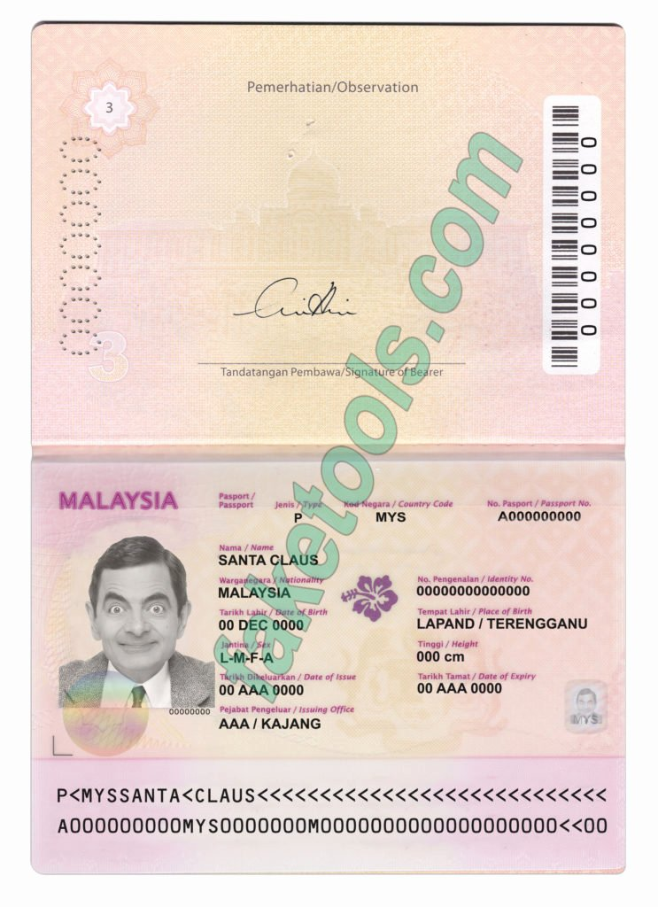 Passport Photo Template Psd New Malaysia Passport Psd Template Fake Id Template