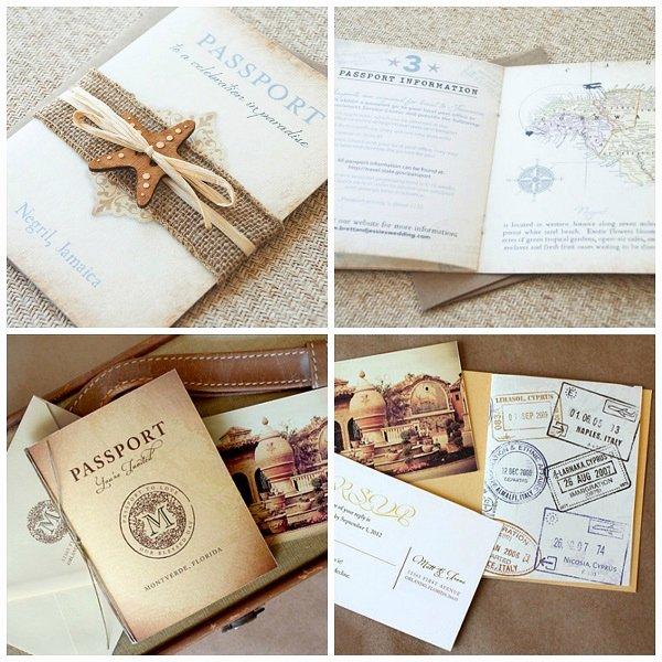 Passport Wedding Invitation Template Awesome Passport Destination Wedding Invitations