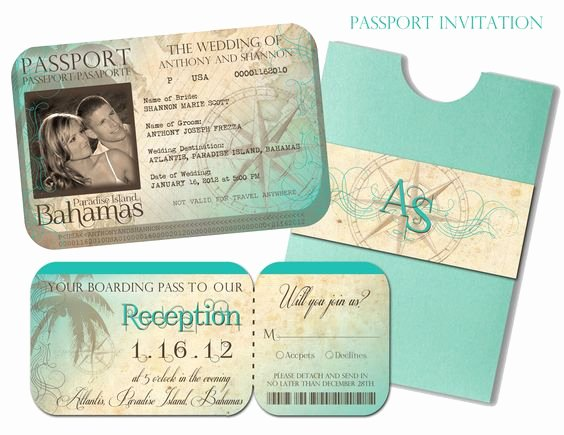 Passport Wedding Invitation Template Awesome Passport Wedding Invitation and Boarding Pass Reception