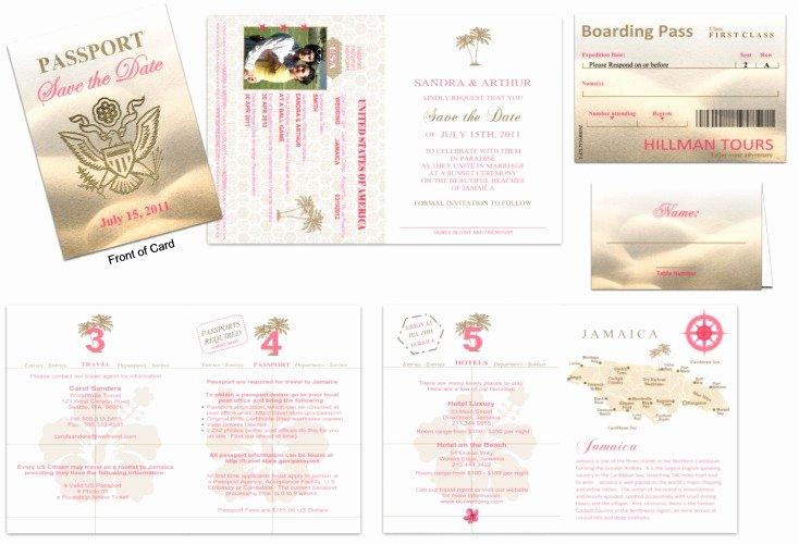 Passport Wedding Invitation Template Elegant Passport 30 Wedding Save the Date Custom Passport