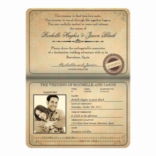 Passport Wedding Invitation Template Inspirational Passport Invitation Template 2019