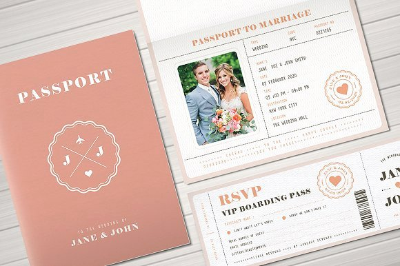 Passport Wedding Invitation Template Inspirational This Week S Fresh Design Products Vol 93 Creative