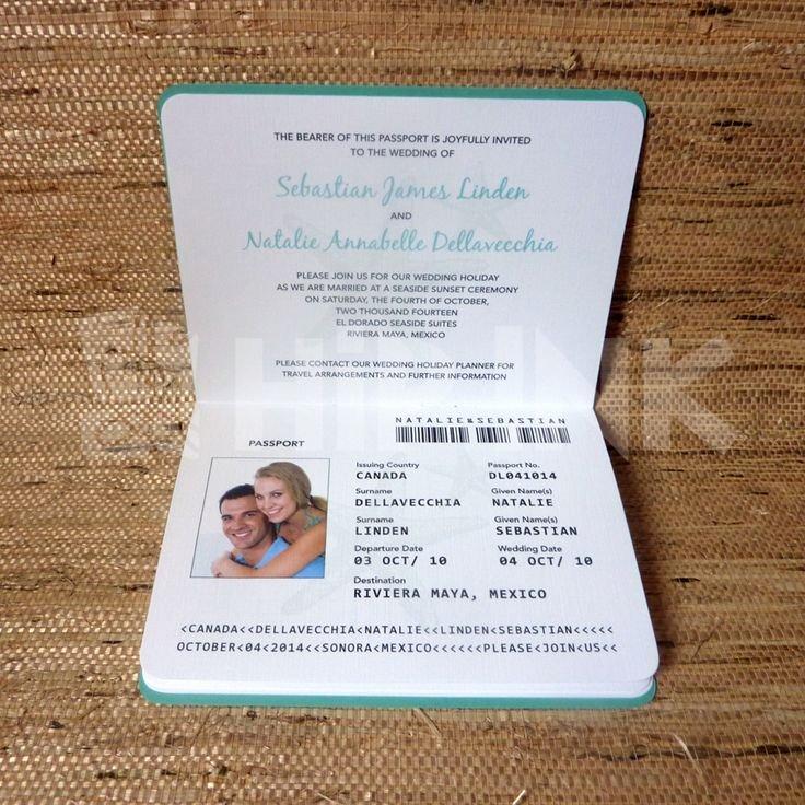 Passport Wedding Invitation Template Lovely Best 25 Passport Invitations Ideas On Pinterest