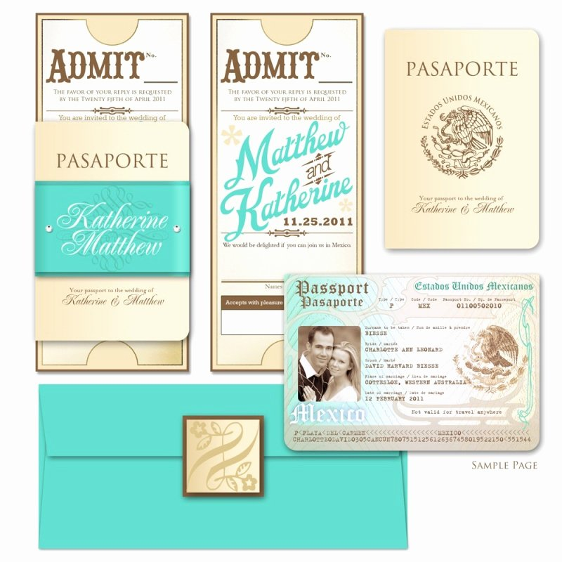 Passport Wedding Invitation Template Luxury Passport Wedding Invitation Template Free