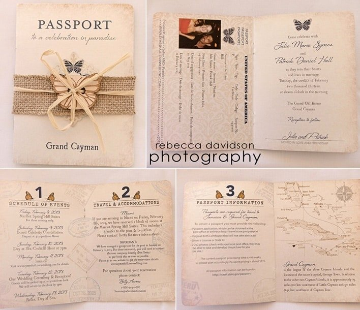 Passport Wedding Invitation Template New Passport Wedding Invitation