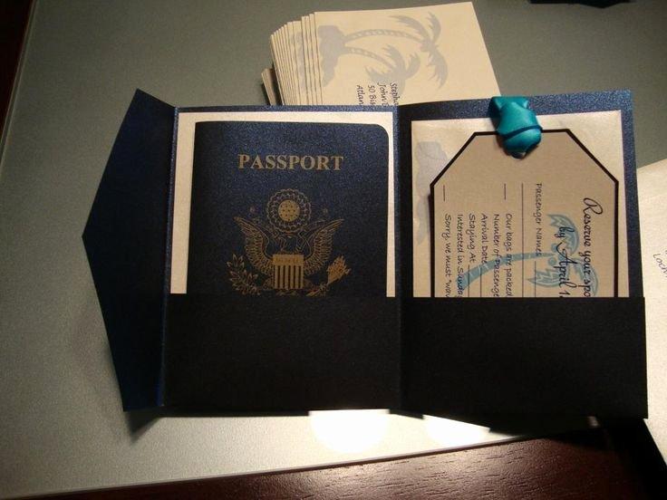 Passport Wedding Invitation Template Unique 15 Best Ideas About Passport Invitations On Pinterest
