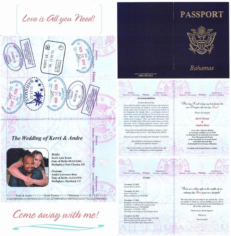 Passport Wedding Invitation Template Unique Wedding Invitation Wording Wedding Invitation Templates
